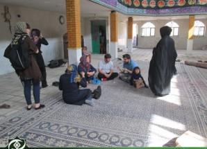 حضور گردشگران فرانسوی در حسینیه کوثر اریسمان + تصاویر