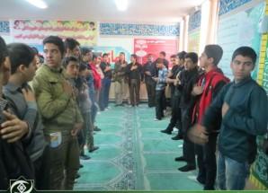 تصاویر اختصاصی اریسمان نیوز از مراسم عزاداری دانش آموزان در دبیرستان باقرالعلوم بادرود