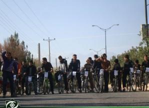 برگزاری مسابقه دوچرخه سواری در اریسمان به مناسبت هفته بسیج  + تصاویر