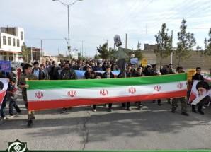 نمایش شکوه و بصیرت مردم اریسمان در راهپیمایی یوم الله ۲۲ بهمن + تصاویر