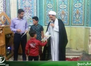 تجلیل از دانش آموزان بسیجی در مسجد حضرت ابوالفضل (ع) اریسمان + تصاویر