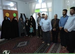 دیدار بسیجیان اریسمانی با خانواده شهید شهنازی + تصاویر