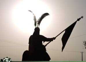 تصاویر/ برگزاری مراسم حرکت نمادین کاروان حسینی در اریسمان
