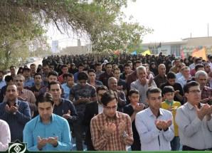 اقامه نماز باشکوه عید سعید فطر در اریسمان + تصاویر